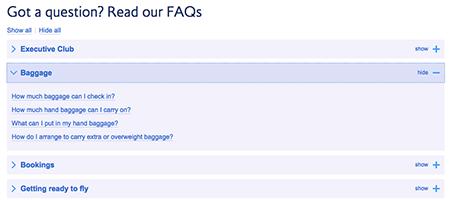 FAQ glossary