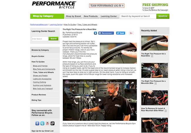 performance bike video