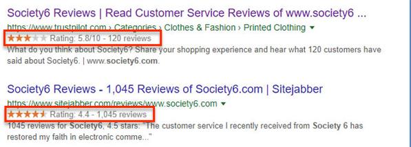 Society6 reviews