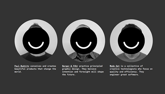 Ello social network three smiley faces over profile pictures