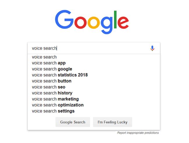 Google autocomplete.