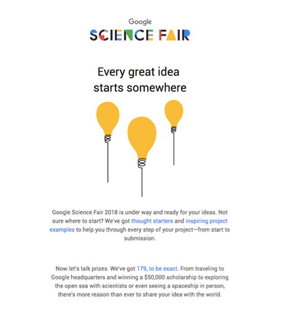 Science fair prizes.