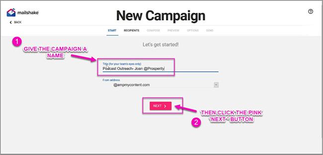Creat campaign.