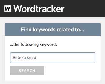 Wordtracker's related keywords tool | 7 day free trial