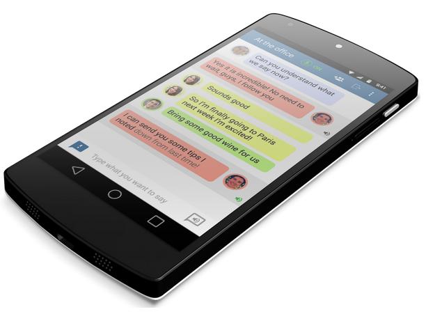 Transcense app for deaf or hard of hearing