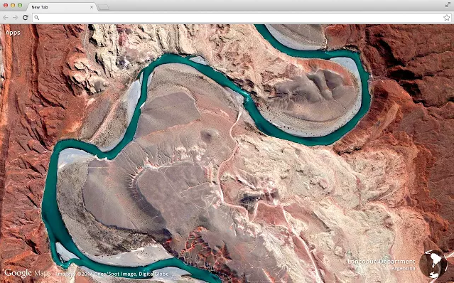 Google Chrome extension aerial images