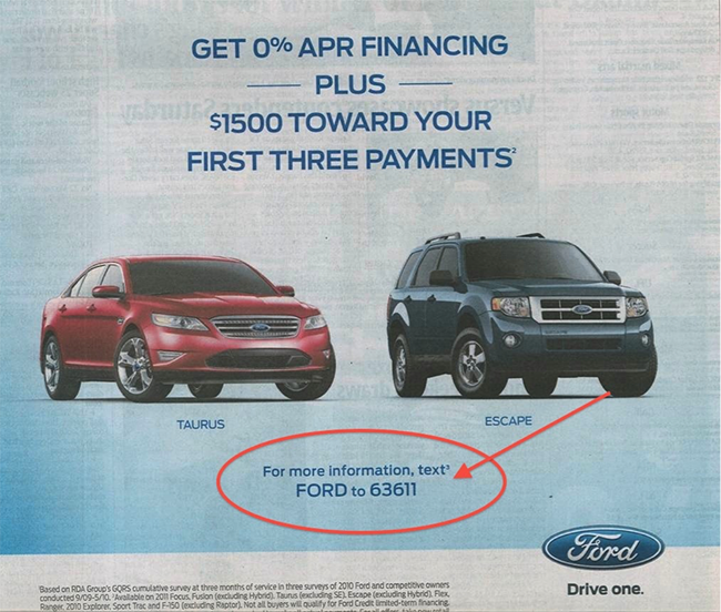 Ford financing.