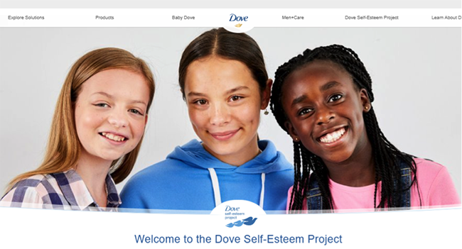 Dove Self-Esteem project.