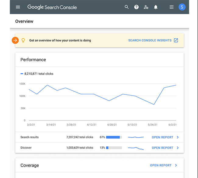 Search Console Insights access.