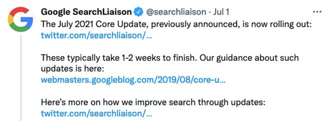 July Core Update.