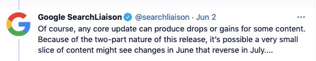 Jule-July update.