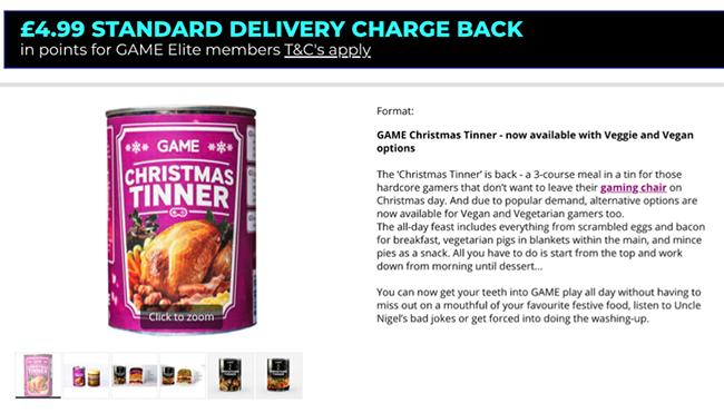 Game Christmas Tinner.
