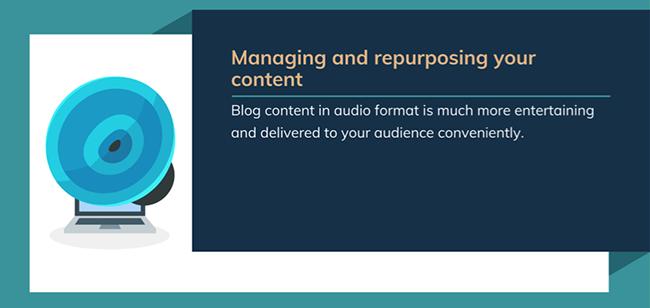 Repurpose content.