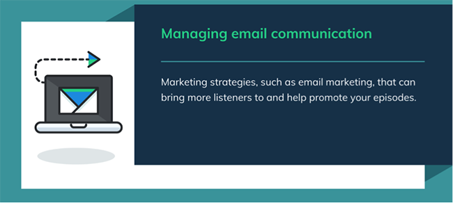 Email communications.