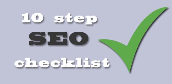 10 step SEO checklist