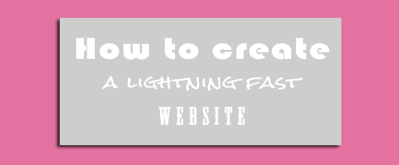 lightning fast website