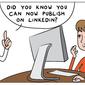 Thumb publish on linkedin
