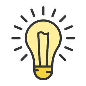 Thumb lightbulb idea